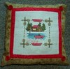 Cross stitch Canoe Pillow - Free Chart photo